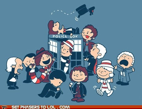 charlie brown christopher eccleston collin baker David Tennant doctor who Matt Smith peanuts regenerations the doctor tom baker william hartnell - 5834884608