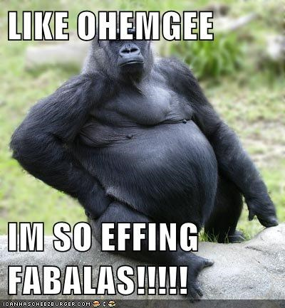 fabulous good looking gorilla sexy sexy and i know it