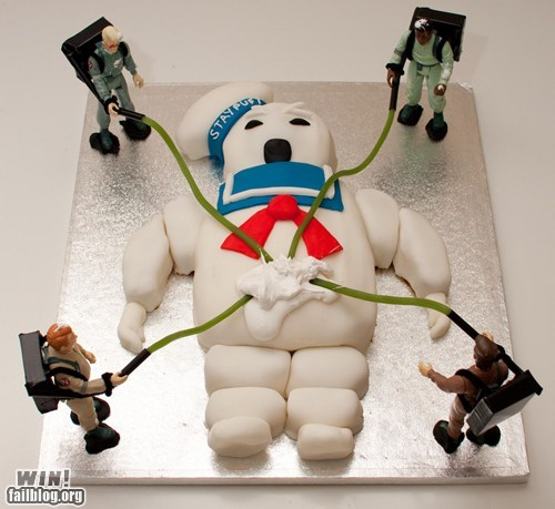 80s cake food ghost busters Movie nerdgasm nostalgia - 5835170560