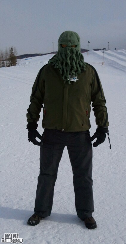 cthulhu,g rated,mask,ski mask,skiing,win,winter