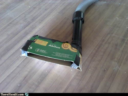 Cardboard vacuuming