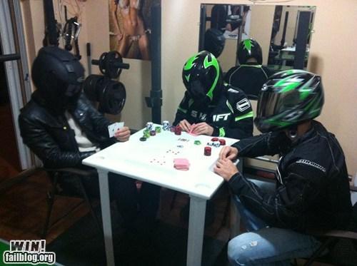 bike helmet cards poker poker face swag - 5835496704
