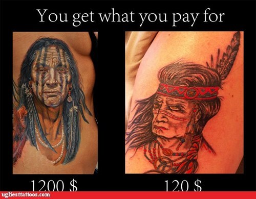 discount tattoos g rated Hall of Fame money Ugliest Tattoos what you pay for - 5835508480