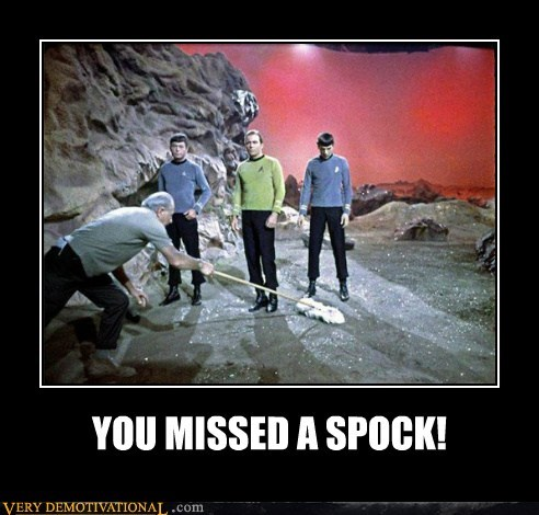cleaning hilarious Spock Star Trek wtf - 5835938048