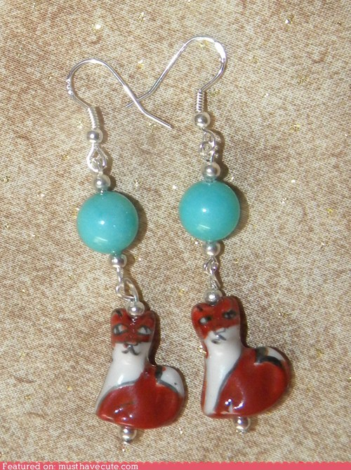 accessories beads blue earrings Jewelry red