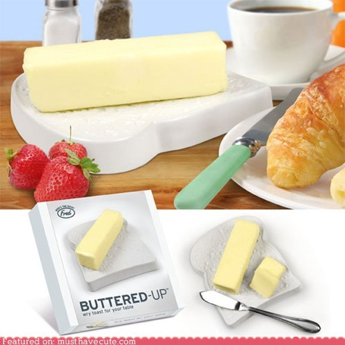 bread butter ceramic dish kitchen toast - 5836408832