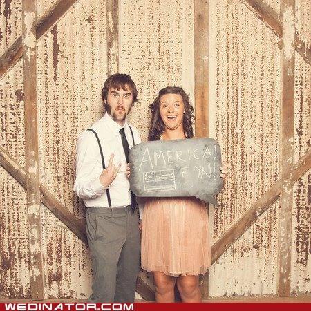 america bridesmaid funny wedding photos groomsman - 5836557568