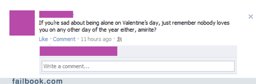 forever alone Valentines day - 5837142528