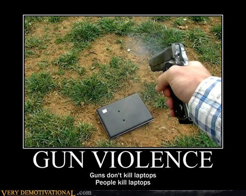 guns hilarious laptops people