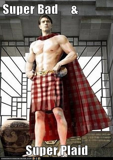 plaid scottish Super-Lols superman wtf - 5837434368