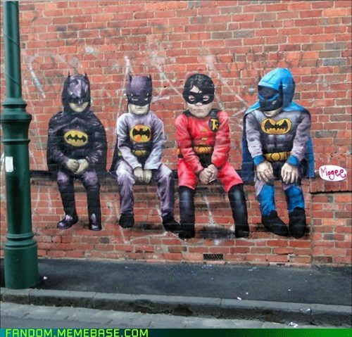 batman graffiti It Came From the Interwebz robin - 5837856256