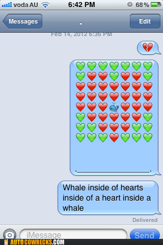 heart Valentines day whale whaleception - 5838076928