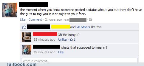 facepalm irony vaguebooking - 5838101760