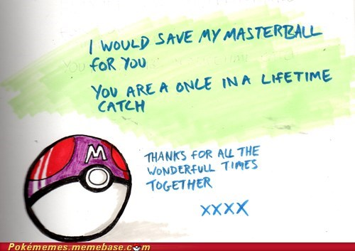 art,cute,dawww,geeky,master ball,Valentines day