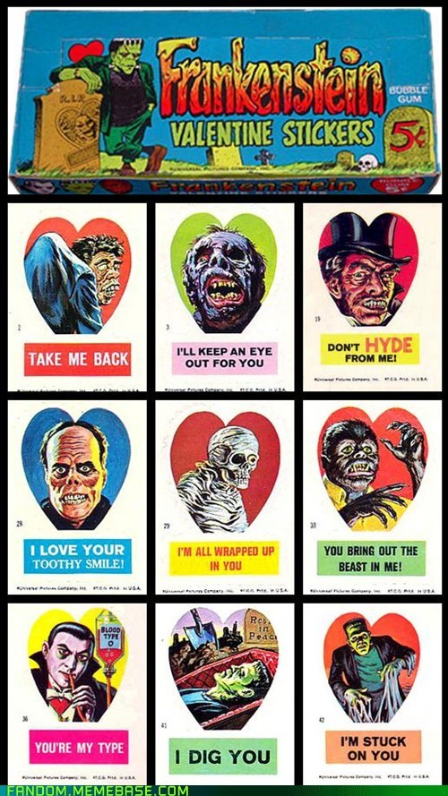 It Came From the Interwebz monster stickers Valentines day - 5838269440