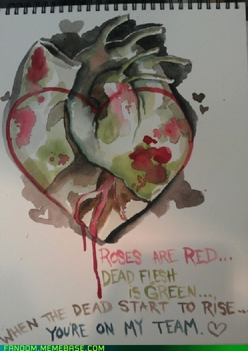 It Came From the Interwebz poem Valentines day zombie