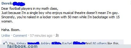 failbook,football,gay,g rated,oh snap,theater,win