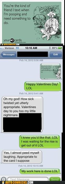 eacrd pooping sick twisted Valentines day - 5838472448