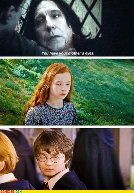 best of week Daniel Radcliffe Harry Potter snape your-mothers-eyes - 5838495232