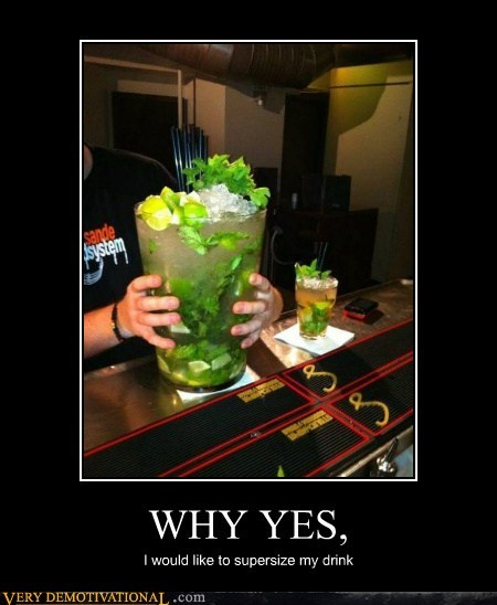 drink hilarious huge mojito supersize - 5838534144