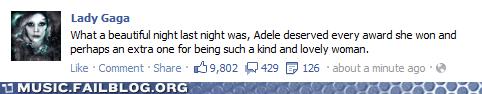 facebook Grammys how gracious lady gaga status - 5838762752