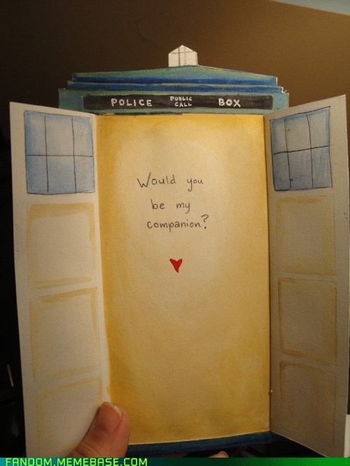 companion doctor who Fan Art tardis Valentines day Whoniverse - 5838768896