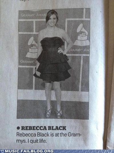 FRIDAY Grammys newspaper Rebecca Black - 5838792192