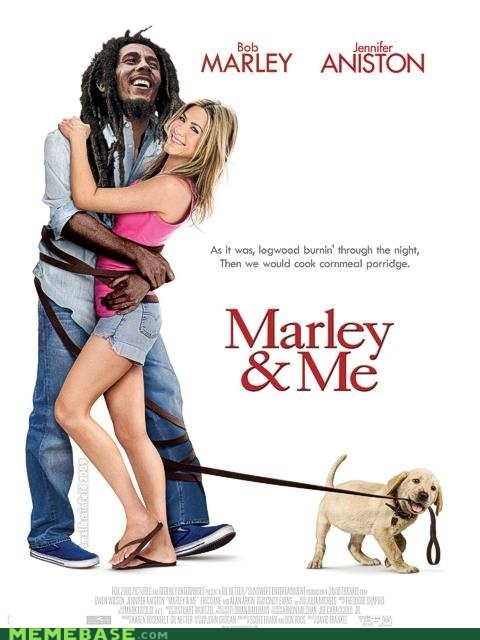 bob marley,marley and me,Memes,movies,no woman no cry,puppy