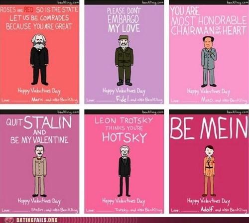 hitler,Marx,stalin,valentines,Valentines day