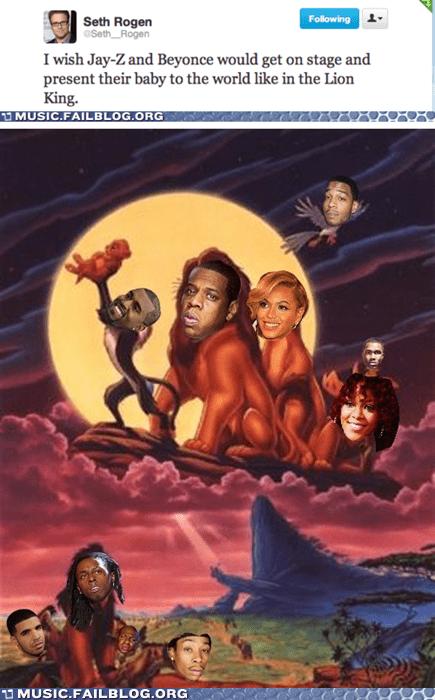baby,beyoncé,ivy blue,ivy blue carter,Jay Z,Seth Rogen,twitter
