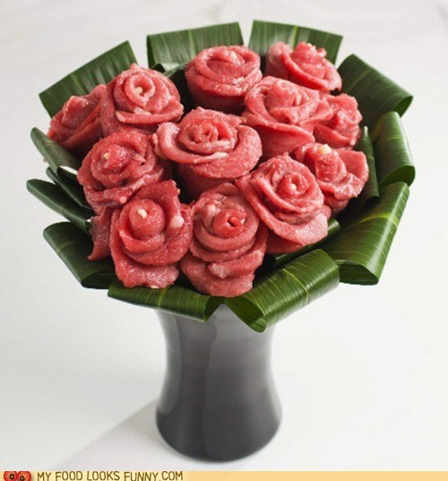 Beef bouquet meat roses Valentines day - 5839267840