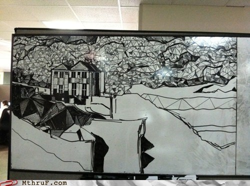 amazing cubicleism whiteboard art - 5839301888