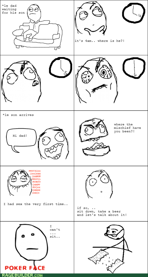 dad poker face Rage Comics sexytimes talk - 5839338752