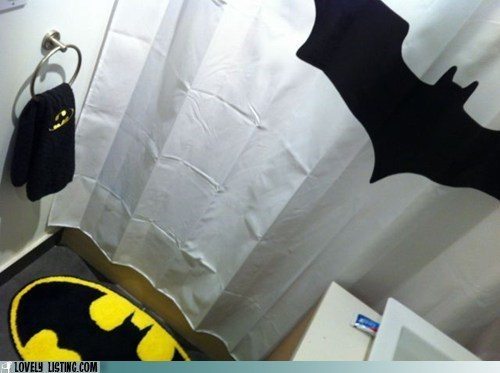 bathroom,batman,decor,logos