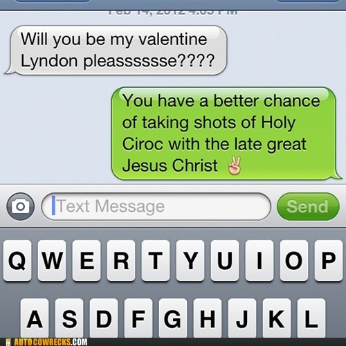 dating drinking rejected rejection relationships shots Valentines day