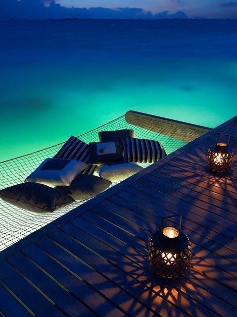 getaways,hammock,hammock over the ocean,relaxing,Tropical,unknown location