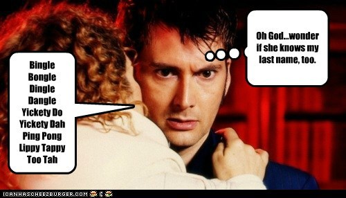 alex kingston,David Tennant,doctor who,gibberish,last name,River Song,the doctor
