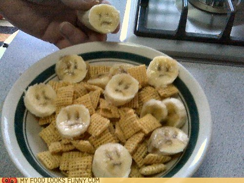 bananas breakfast cereal face Sad