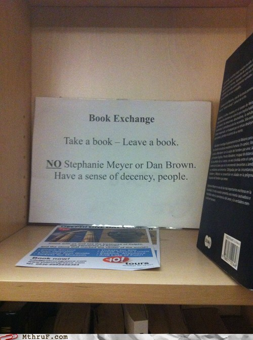 Book exchange dan brown leave a book stephanie meyer take a book - 5839912960