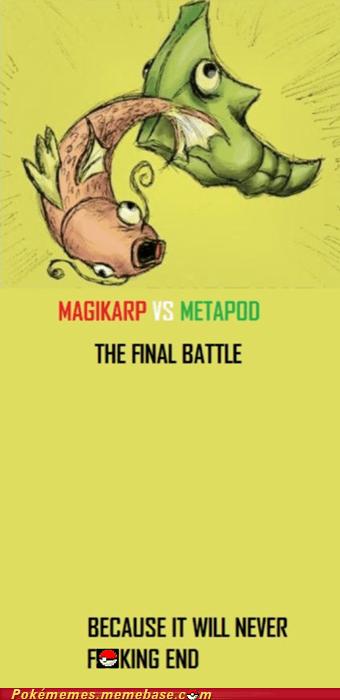 harden,magikarp,Memes,metapod,never ends,splash