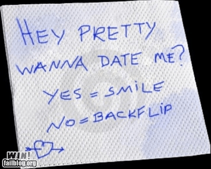bar,clever,dating,g rated,napkin,relationships,romance,Valentines day,win