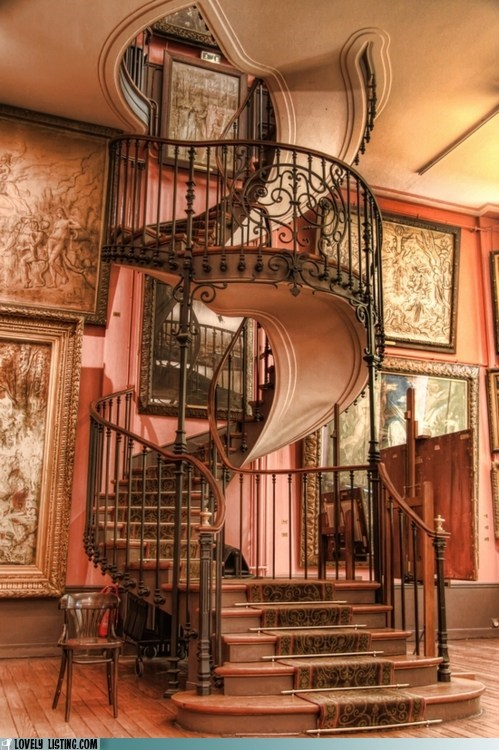 fancy spiral stairs WoW wrought iron