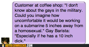 barista boner coffee shop erection gay homophobia homosexual - 5840566016