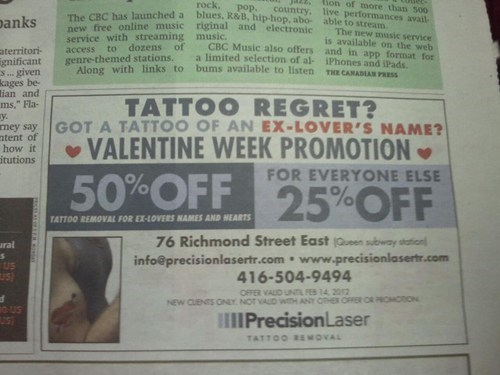 name tattoos,tattoo regret,Valentines day