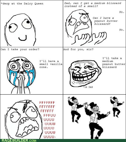 fu guy,ice cream,Rage Comics,troll dad