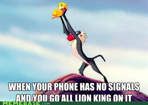 lion king,Memes,phone,signal