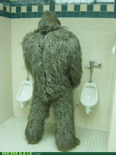 bathroom corner pee sasquatch wtf - 5841775360