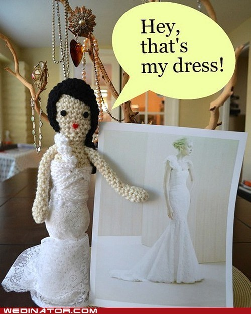 Amigurumi crafts funny wedding photos wedding dress - 5842016000