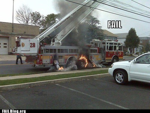 cars,fail nation,fire,fire department,g rated,irony,tax dollars at work,wtf
