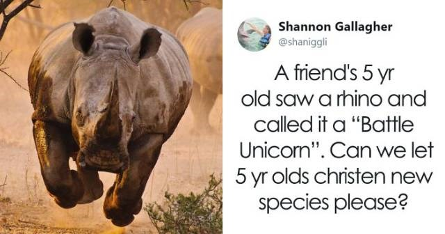 tweets of kids renaming things and it make much more sense